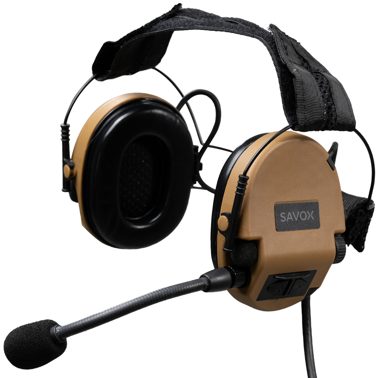 NOISE-COM 200 headset in Coyote Brown color