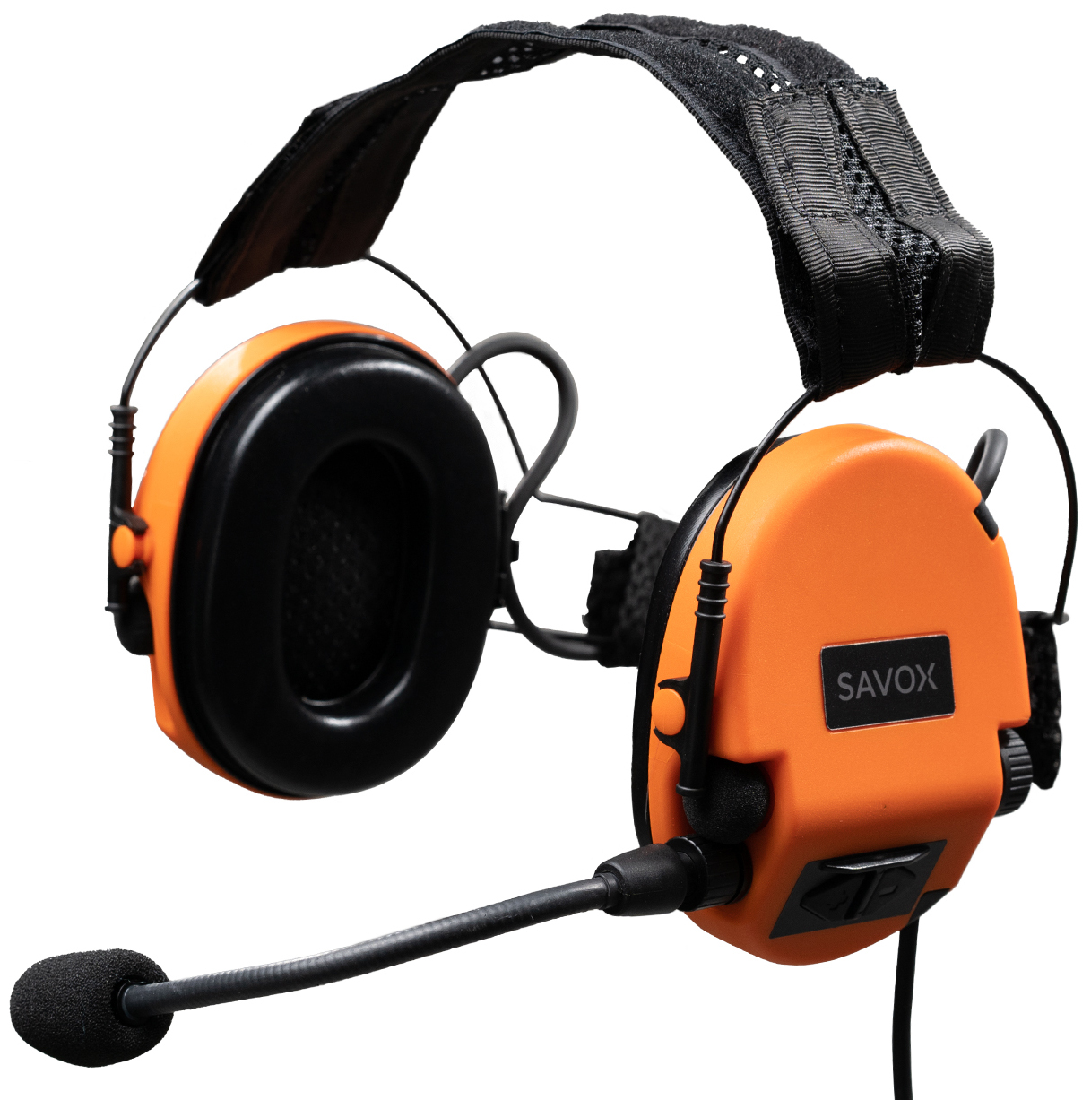 NOISE-COM 200 Hearing Protection Headset in Orange color.